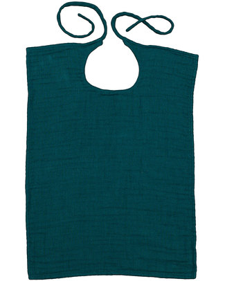 Numero 74 Baby Bib Square - Teal Blue - Double Cotton Muslin Snap Bibs