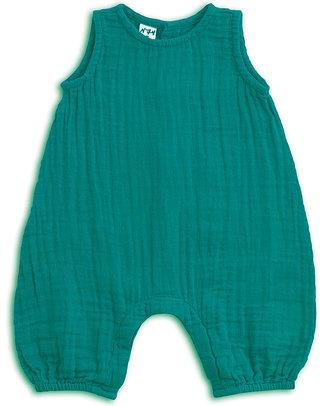 Numero 74 Baby Combi One Piece Aqua - Cotton Muslin Short Rompers