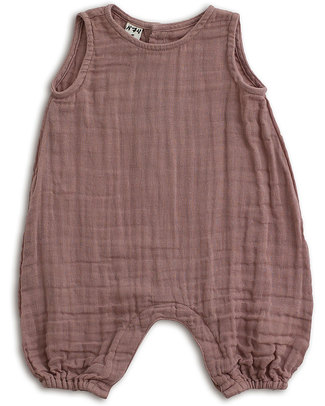 Numero 74 Baby Combi One Piece Dusty Pink - Cotton Muslin Short Rompers