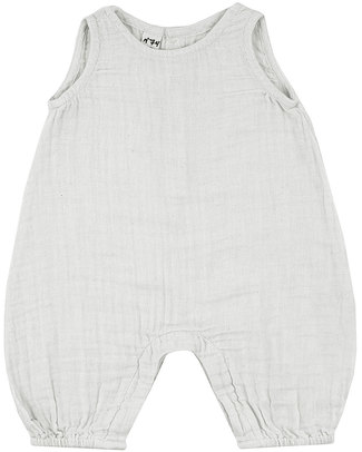 Numero 74 Baby Combi One Piece White - Cotton Muslin Short Rompers