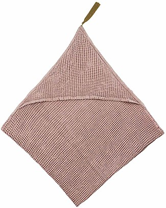 Numero 74 Baby Hooded Bath Towel - Dusty Pink Towels And Flannels