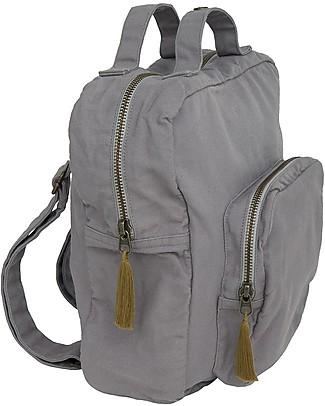 Numero 74 Backpack, Stone Grey - 100% Organic cotton null