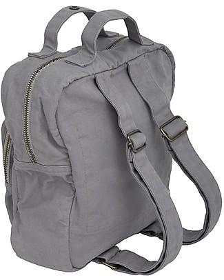 Numero 74 Backpack, Stone Grey - 100% Organic cotton Small Backpacks