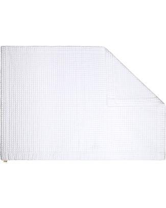 Numero 74 Bath Mat Gauze Waffle, White- 55x80 cm - 100% organic cotton Towels And Flannels