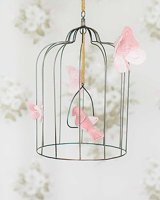 Numero 74 Bohemian Metal Birdcage - Large - Dusty Pink - Limited Edition null