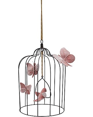 Numero 74 Bohemian Metal Birdcage - Large - Dusty Pink #S007 - Limited Edition Room Decorations