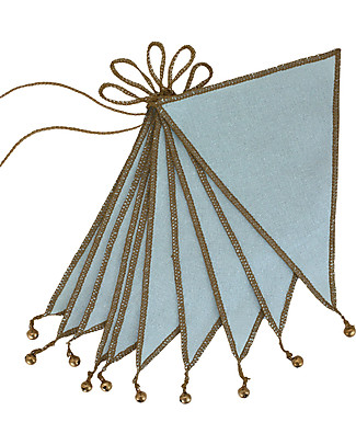 Numero 74 Bunting Garland, Sweet Blue - 2.5 metres - S046 Bunting