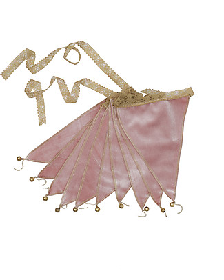 Numero 74 Bunting Garland Velvet Dusty Pink - 2.5 metres - New Bohemian Collection Bunting