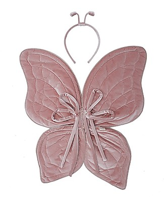 Numero 74 Butterfly Wings and Antenna Costume Set, Dusty Pink Dressing Up & Role Play