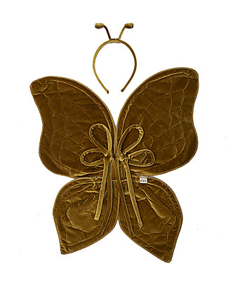 Numero 74 Butterfly Wings and Antenna Costume Set, Gold Dressing Up & Role Play