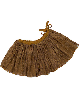 Numero 74 Carolina, Tutu Lace Mini Skirt, Gold - 3/5 years Skirts