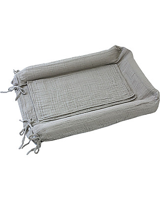 Numero 74 Changing Pad Cover - Silver Grey Changing Mats And Covers
