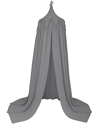 Numero 74 Circus Bunting Canopy, Stone Grey - 100% organic cotton Canopies