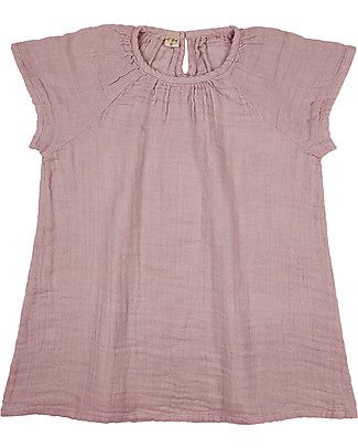 Numero 74 Clara Dress Baby & Kid, Dusty Pink (1-2 years) - 100% organic cotton Dresses
