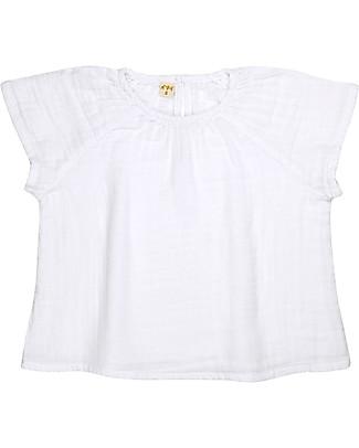 Numero 74 Clara Top Baby & Kid, White (5-6 years) - 100% organic cotton Dresses