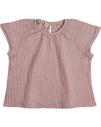 Numero 74 Clara Top Baby & Kid, Dusty Pink (3-4 years) - 100% organic cotton Dresses
