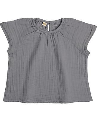 Numero 74 Clara Top Baby & Kid, Stone Grey (3-4 years) - 100% organic cotton Dresses