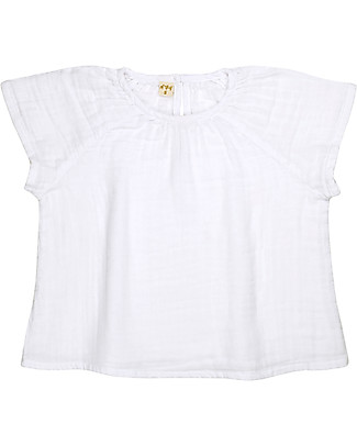 Numero 74 Clara Top Baby & Kid, White (5-6 years) - 100% organic cotton Dresses