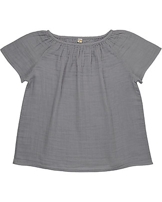 Numero 74 Clara Top Mum, Stone Grey - 100% organic cotton T-Shirts And Vests
