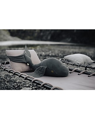 Numero 74 Cushion Whale Moby - Organic cotton Cushions