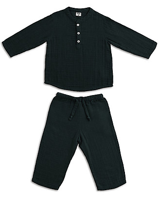 Numero 74 Dan Shirt & Pants Suit, Dark Grey - 100% cotton (5/6 years) Special Occasion