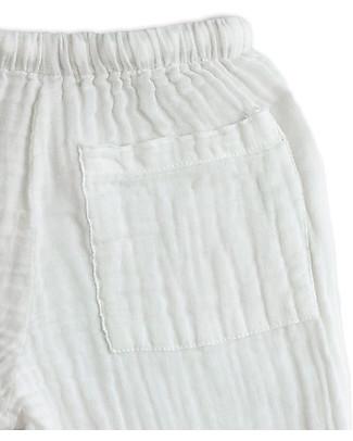 Numero 74 Dan Shirt & Pants Suit, White - 100% cotton (1/4 years) Rompers