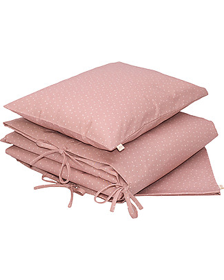 Numero 74 Duvet Cover Set - 100x140 cm - Star - Dusty Pink with Stars Duvet Sets