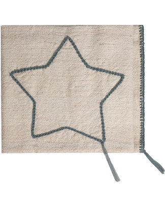 Numero 74 Embroidered Star Blanket - Grey Stitching - 100% Cotton Blankets