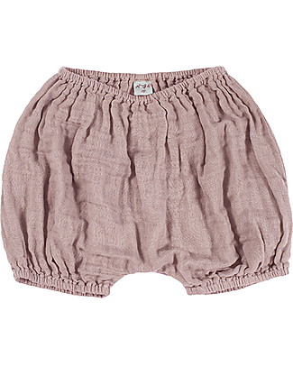 Numero 74 Emi Bloomer Shorts, Dusty Pink - Organic Cotton (3-6 months) Shorts