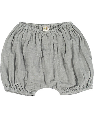 Numero 74 Emi Bloomer Shorts, Silver Grey - Organic Cotton (9-12 months) Shorts