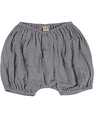 Numero 74 Emi Bloomer Shorts, Stone Grey - Organic Cotton (9-12 months) Shorts