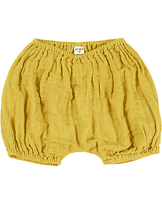 Numero 74 Emi Bloomer Shorts, Sunflower Yellow - Organic Cotton (9-12 months) Shorts
