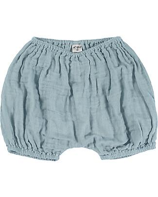 Numero 74 Emi Bloomer Shorts, Sweet Blue - Organic Cotton (3-6 months) Shorts