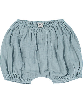 Numero 74 Emi Bloomer Shorts, Sweet Blue - Organic Cotton (9-12 months) Shorts