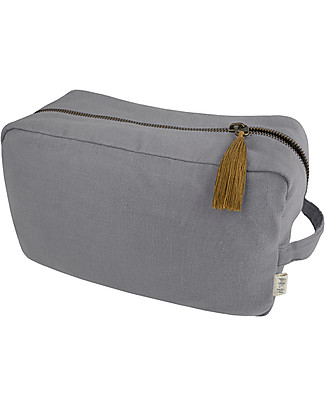 Numero 74 Essential Purse Large, Stone Grey - Organic cotton Pencil Cases