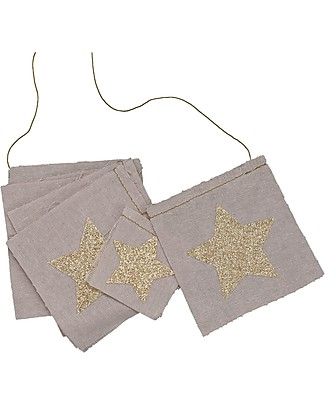 Numero 74 Fancy Garland with Glitter Stars, Dusty Pink - 2,5 metres Bunting