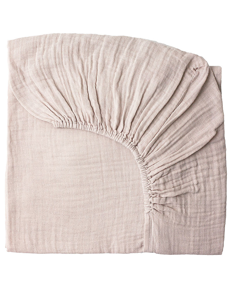 Numero 74 Fitted Bed Sheet, Powder U2013 60x120 Cm, Cotton Muslin Bed Sheets