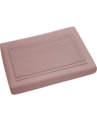 Numero 74 Fitted Changing Pad Cover 50x70 cm, Dusty Pink - Cotton - Includes 2 small swaddles Changing Mats And Covers