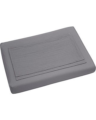 Numero 74 Fitted Changing Pad Cover 50x70 cm, Stone Grey - Organic Cotton - Includes 2 small swaddles Changing Mats And Covers