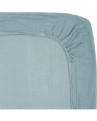 Numero 74 Fitted Changing Pad Cover 50x70 cm, Sweet Blue - Organic Cotton - Includes 2 small swaddles Changing Mats And Covers