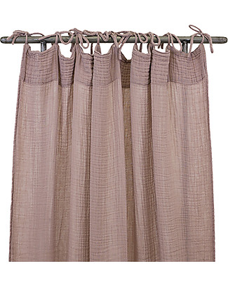 Numero 74 Flat Curtain 100x290 cm, Dusty Pink - 100% cotton Tepees & Tents
