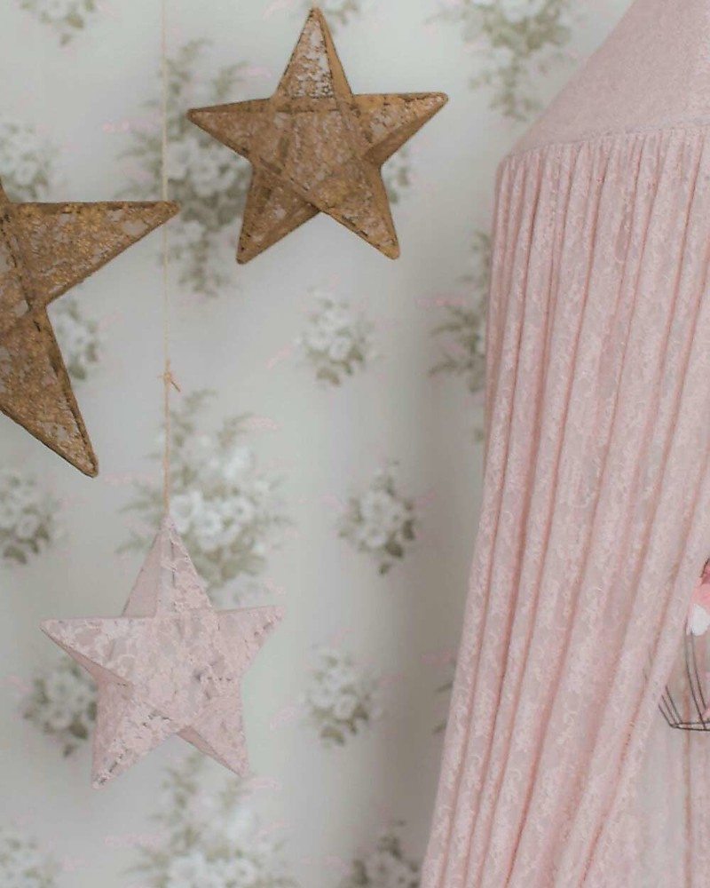 Numero 74 Floral Lace Bed Canopy Dusty Pink Canopies & Numero 74 Floral Lace Bed Canopy Dusty Pink unisex (bambini)