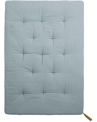 Numero 74 Futon 75x110 cm - Cotton - Sweet Blue and Gold Embroidery Mattresses