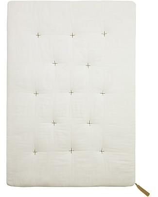 Numero 74 Futon 75x110 cm - Cotton - White and Gold Embroidery Mattresses