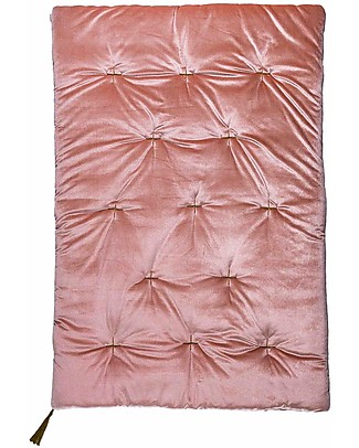 Numero 74 Futon 75x110 cm - Velvet - Dusty Pink and Gold Embroidery Mattresses
