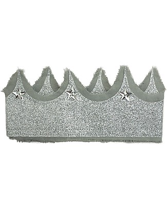Numero 74 Glitter Crown - Silver Grey Sparkling Tulle Party Favours