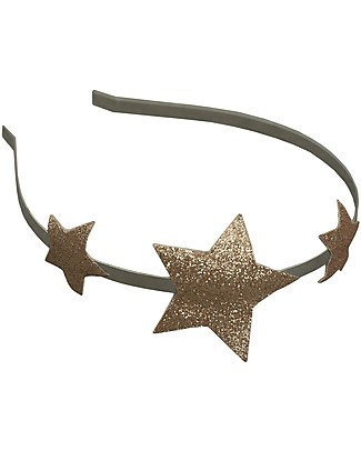 Numero 74 Glitter Star Headband - Gold Hair Accessories