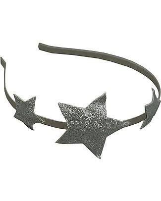 Numero 74 Glitter Star Headband - Silver Hair Accessories