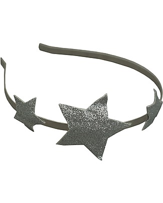 Numero 74 Glitter Star Headband - Silver null