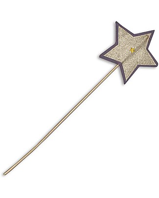 Numero 74 Glitter Star Wand - Dusty Lilac & Gold Sparkling Tulle Dressing Up & Role Play